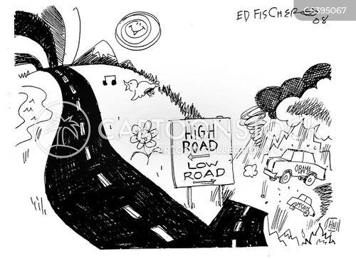 negative ad cartoon