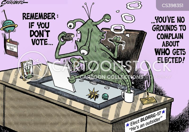 voting turnout cartoon
