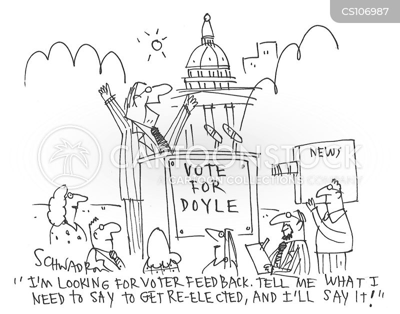 re-elected cartoon