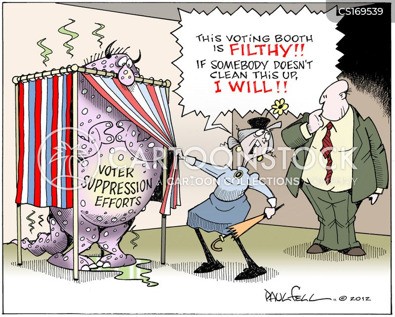 voter identifications cartoon