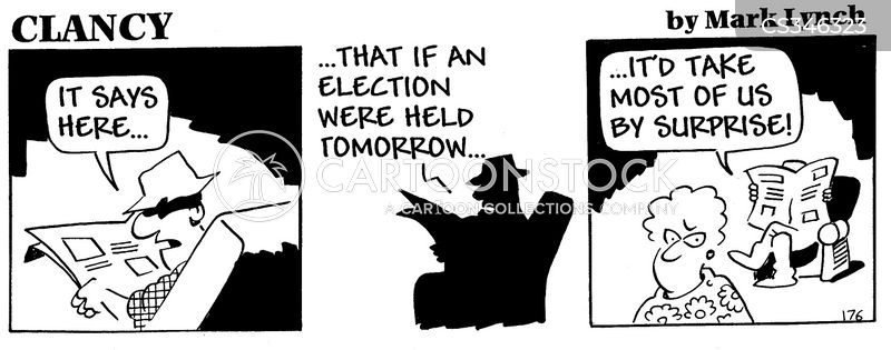 voting intention cartoon