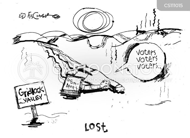 incumbent politician cartoon