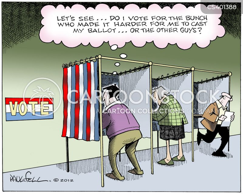 voter ids cartoon