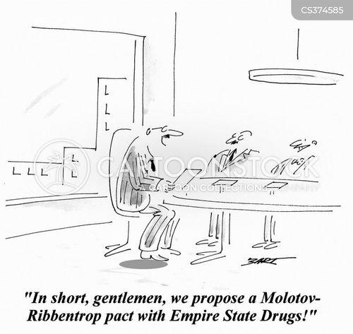 non-aggressive pact cartoon