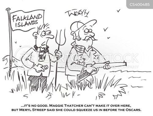 falklands war cartoon