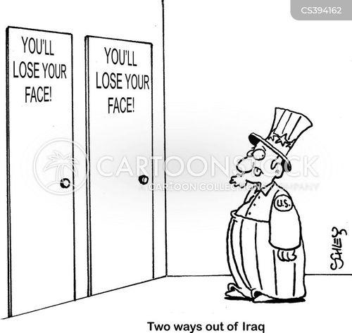 losing face cartoon