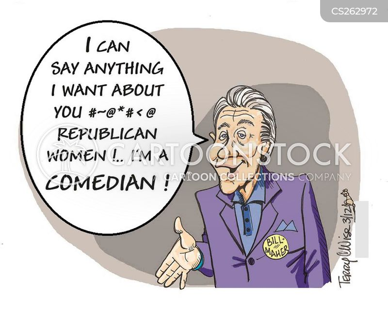 bill maher cartoon