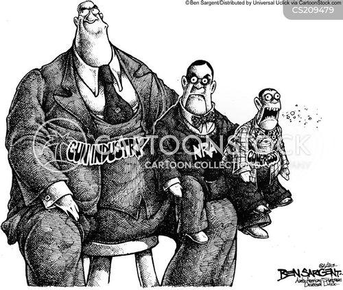 gun lobbyist cartoon