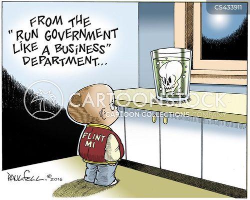 water company cartoon