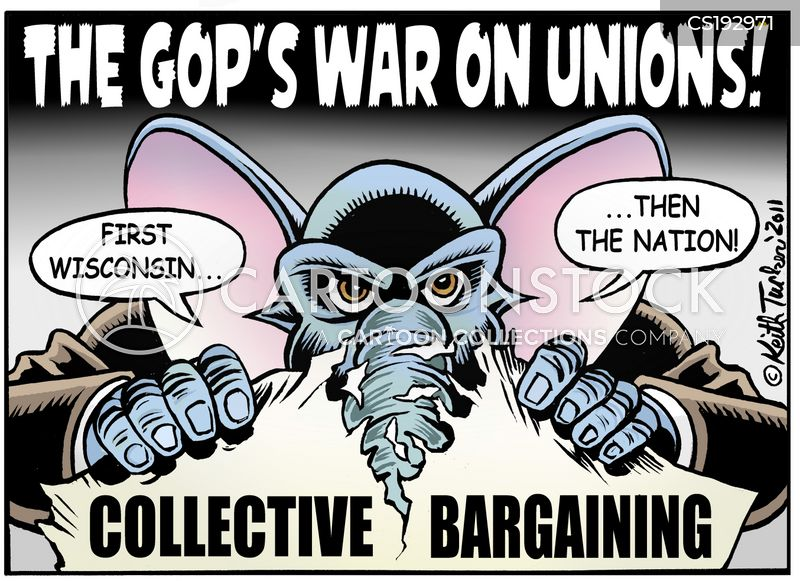 collective bargaining cartoon