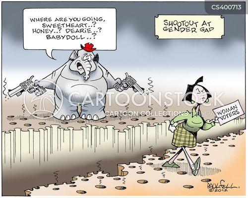 women voters cartoon