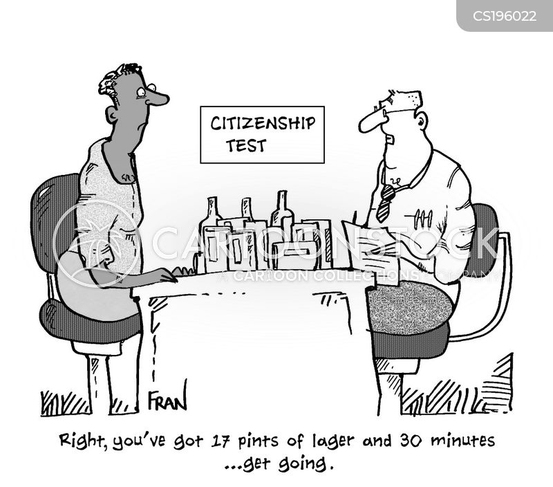 citizenship tests cartoon