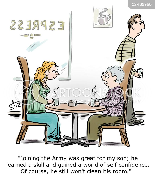 army jobs cartoon