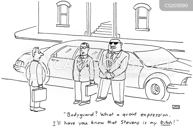body guard cartoon