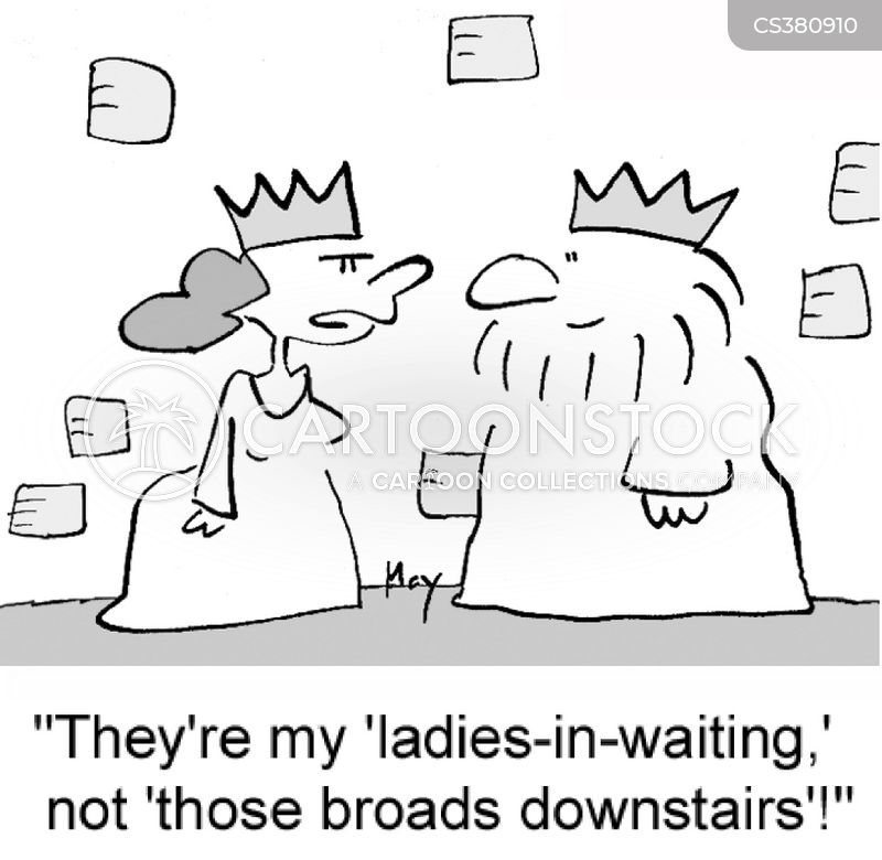 Lady In Waiting cartoons, Lady In Waiting cartoon, funny, Lady In Waiting picture, Lady In Waiting pictures, Lady In Waiting image, Lady In Waiting images, Lady In Waiting illustration, Lady In Waiting illustrations