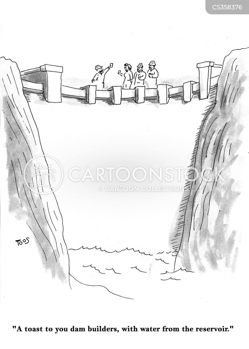 water reservoirs cartoon
