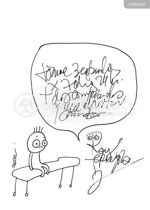 doctors handwriting cartoon