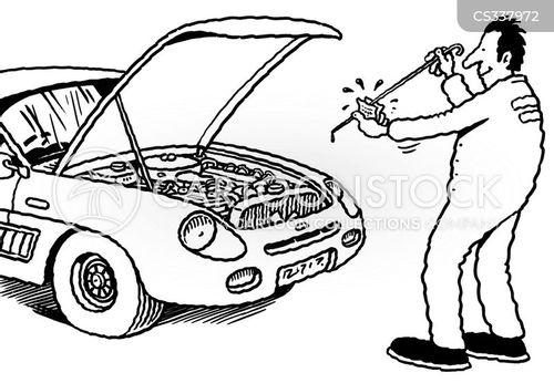 vehicle maintenance cartoon