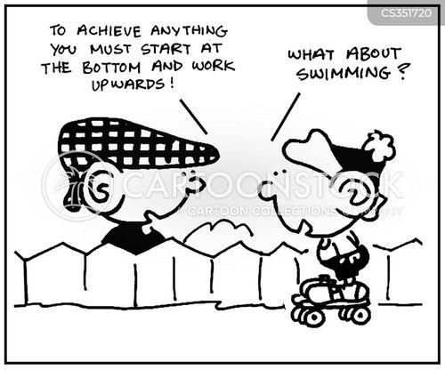 working your way up cartoon