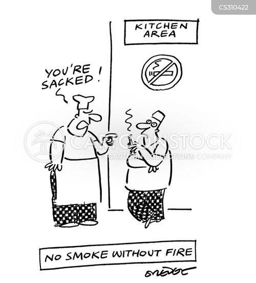 smoking in the workplace cartoon