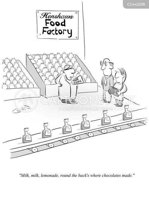 food factory cartoon