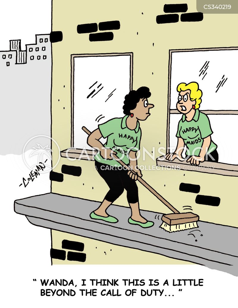 maid service cartoon