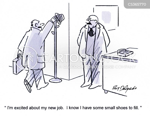 big shoes to fill cartoon