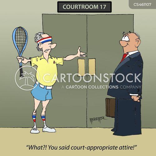 tennis outfit cartoon