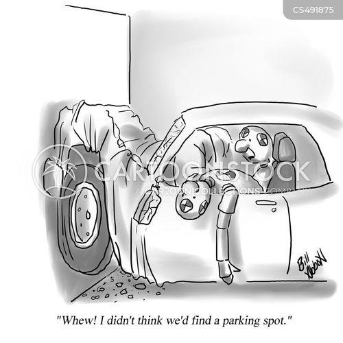 crash testing cartoon