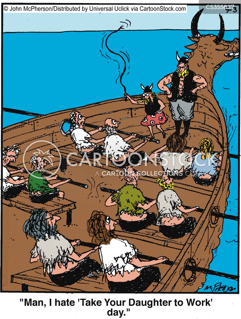 longboat cartoon
