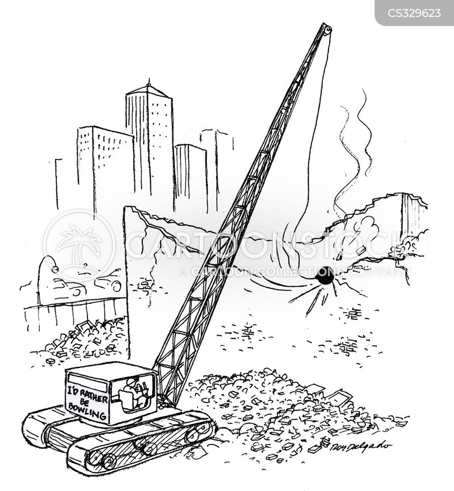 demolished cartoon