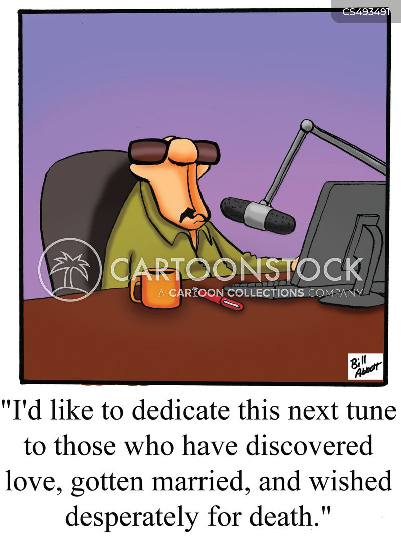 radio personality cartoon