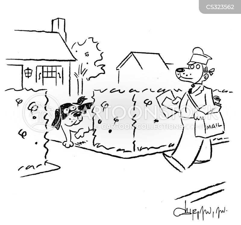 delivering mail cartoon