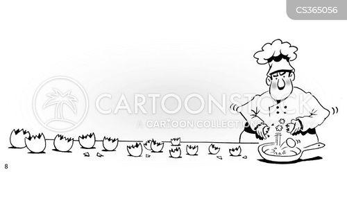 fried breakfast cartoon