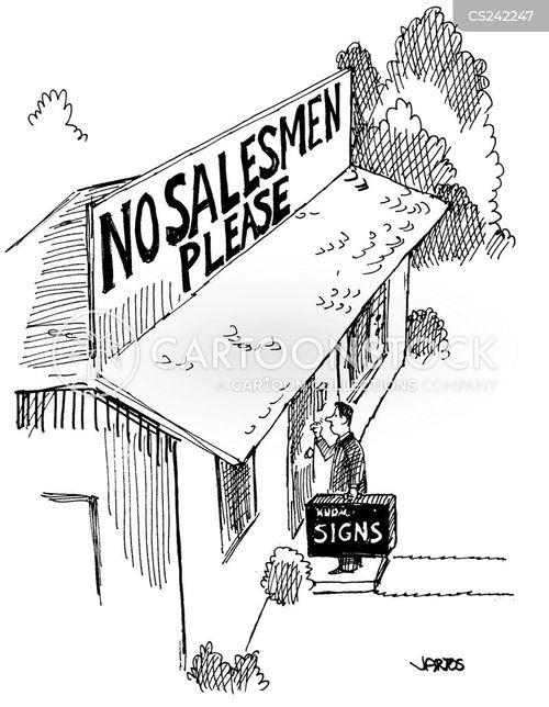 door-to-door salesman cartoon