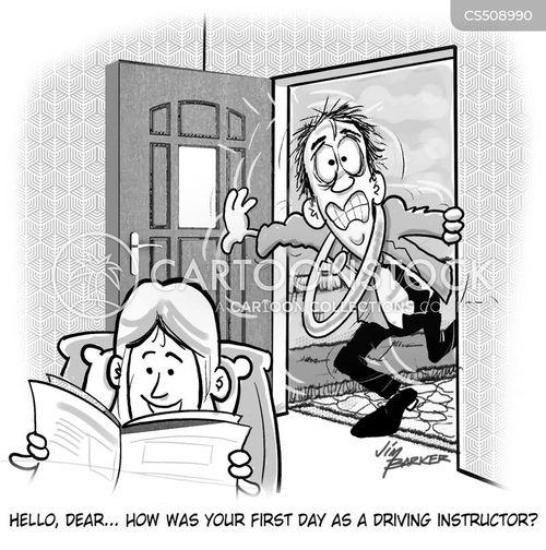 first day at work cartoon