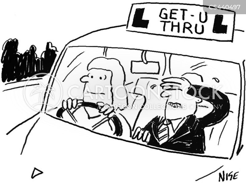 driving class cartoon