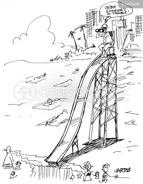 in trouble cartoon