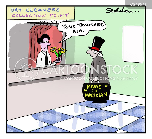 dry cleans cartoon