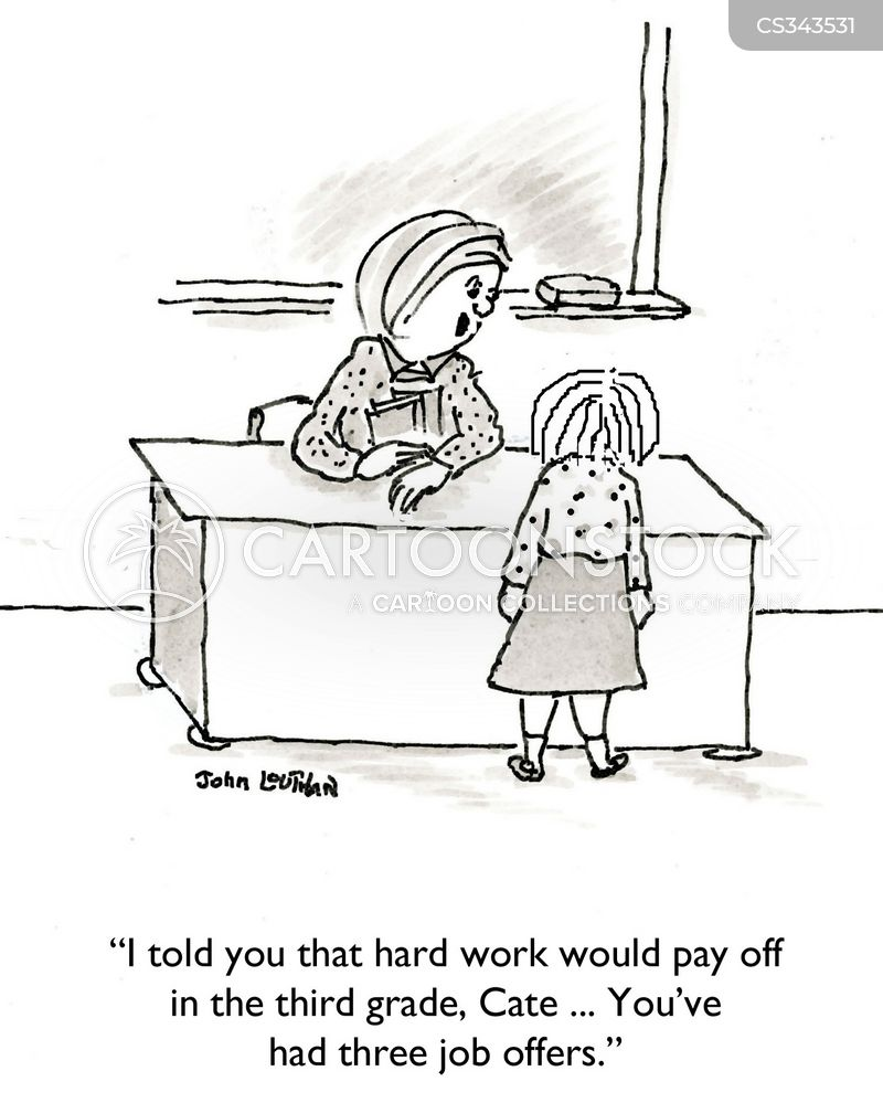 paying off cartoon