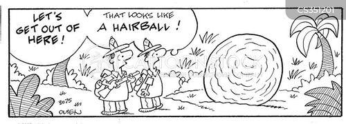 hair ball cartoon