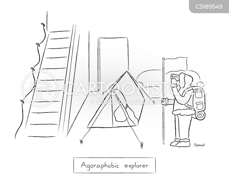 agoraphobes cartoon