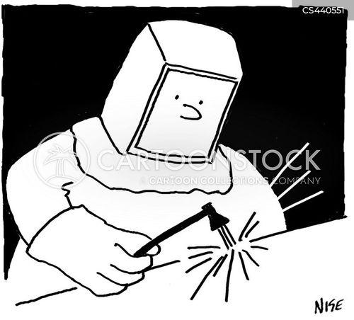 welder cartoon
