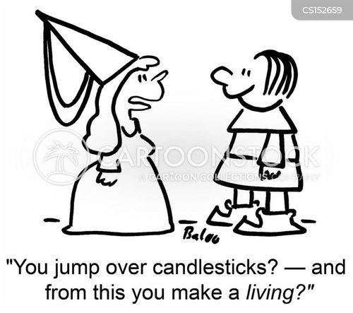 candlestick cartoon