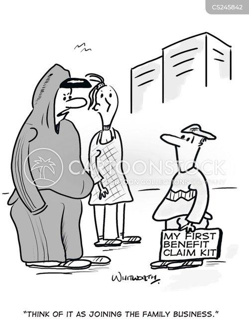 benefits claimant cartoon