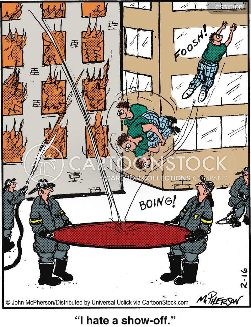 trampoline cartoon