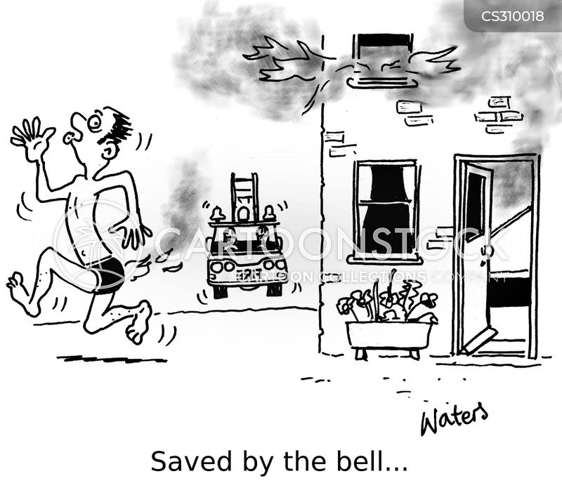 house fires cartoon