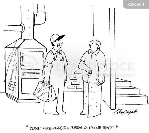 flue cartoon