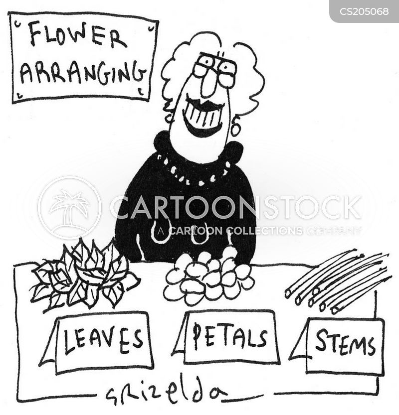 flower arrangers cartoon
