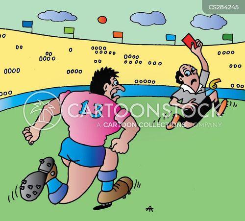 football officials cartoon